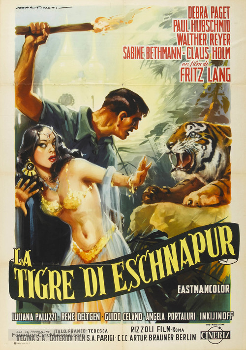 Der Tiger von Eschnapur - Italian Movie Poster