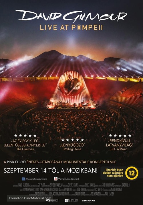 David Gilmour Live at Pompeii - Hungarian Movie Poster
