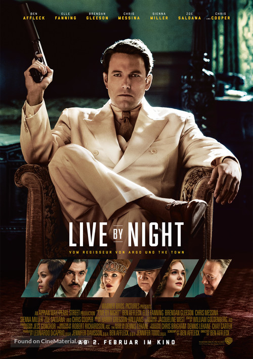 Live by Night - German Movie Poster