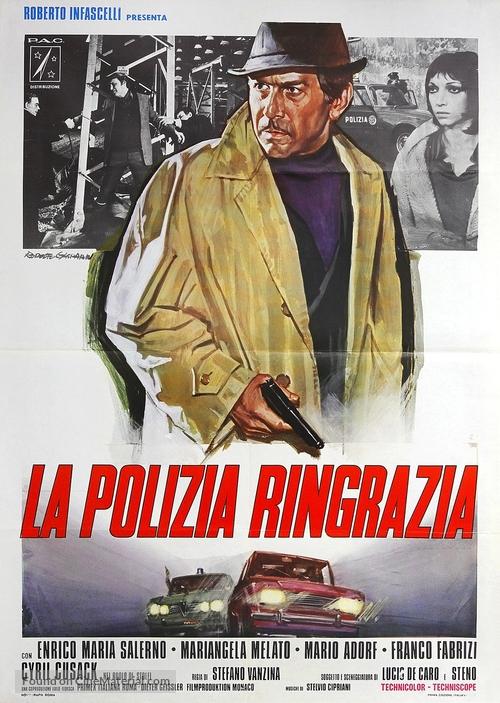 La polizia ringrazia - Italian Movie Poster
