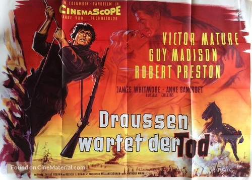 The Last Frontier - German Movie Poster