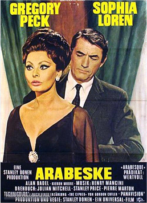Arabesque - German Movie Poster