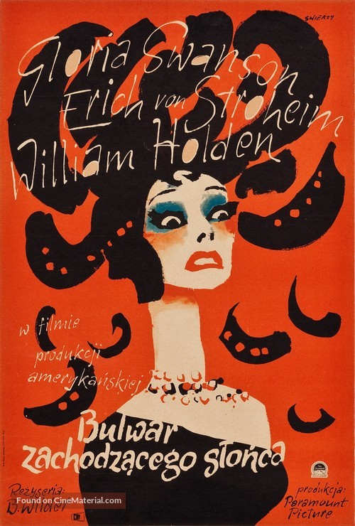 Sunset Blvd. - Polish Movie Poster