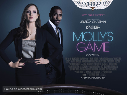 Molly's Game - British Movie Poster
