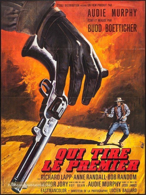 A Time for Dying - French Movie Poster