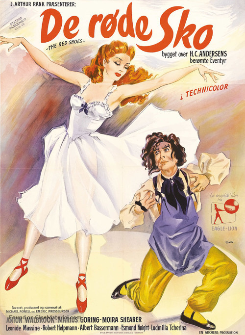 The Red Shoes - Danish Movie Poster