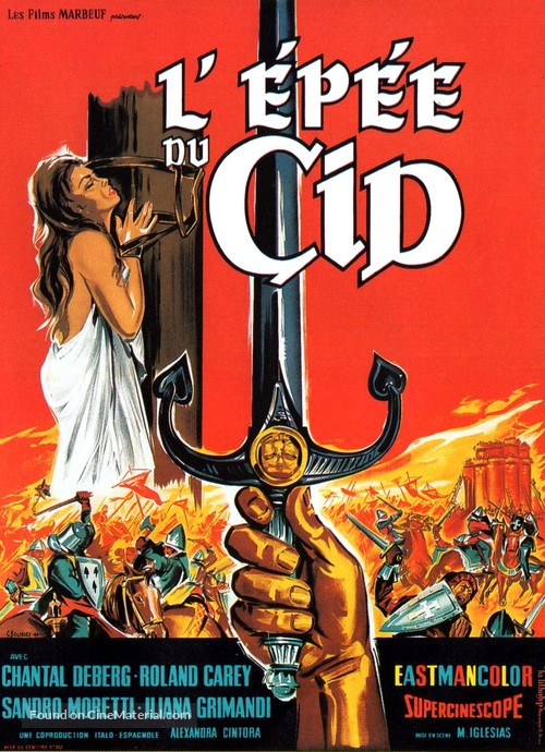 La spada del Cid - French Movie Poster