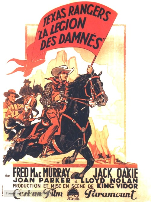 The Texas Rangers - French Movie Poster