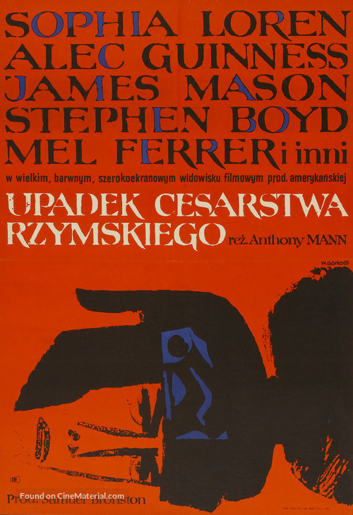 The Fall of the Roman Empire - Polish Movie Poster