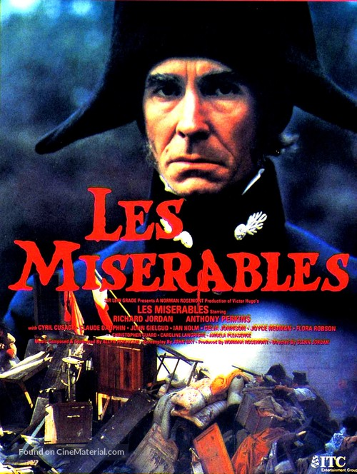 Les Miserables (1978) British movie poster