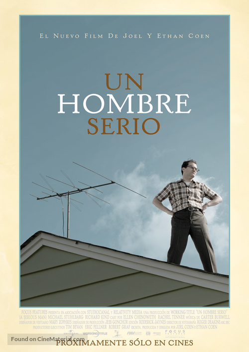 A Serious Man - Colombian Movie Poster