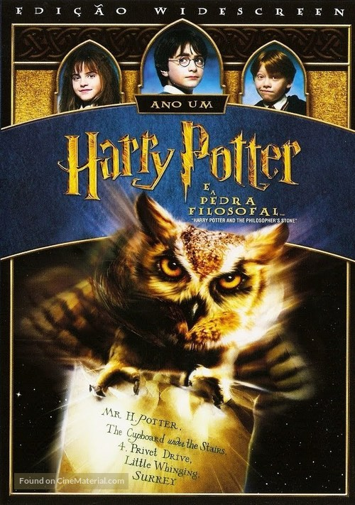 Harry Potter and the Sorcerer's Stone - Brazilian DVD movie cover