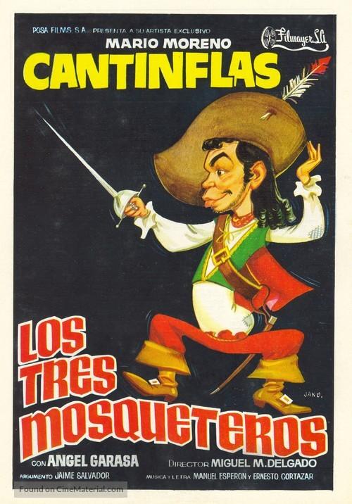 Tres mosqueteros, Los - Spanish Movie Poster