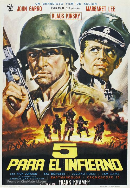 5 per l'inferno - Spanish Movie Poster