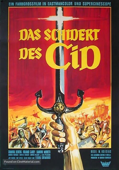 La spada del Cid - German Movie Poster