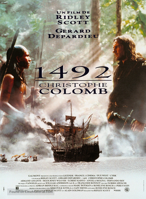 1492: Conquest of Paradise - French Movie Poster