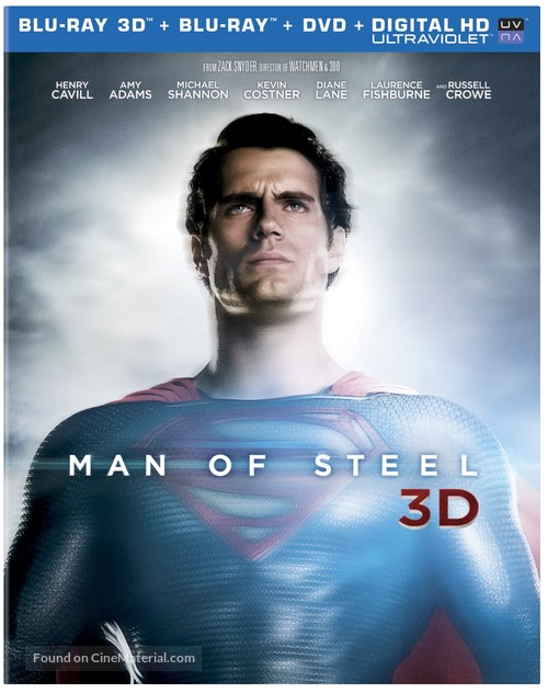 Man of Steel - Blu-Ray cover