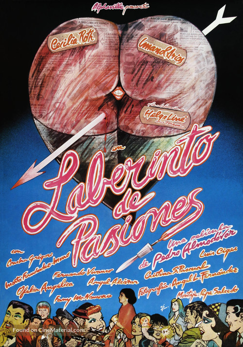 Laberinto de pasiones - Spanish Movie Poster