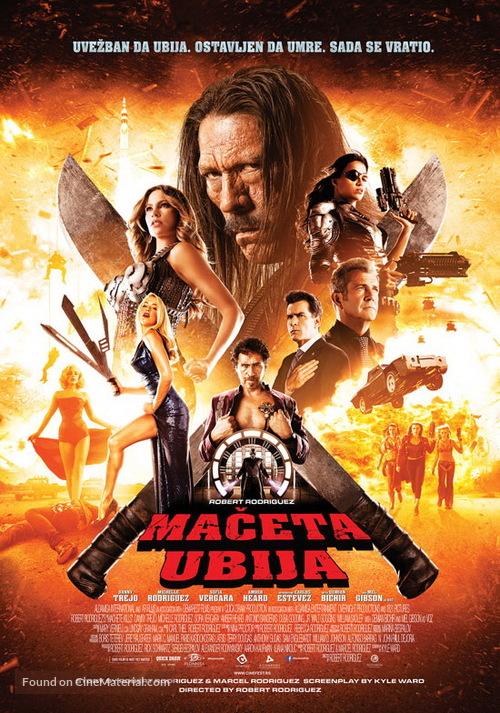 Machete Kills - Serbian Movie Poster