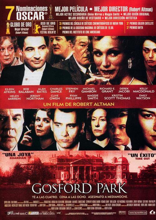 Gosford Park - Spanish Movie Poster