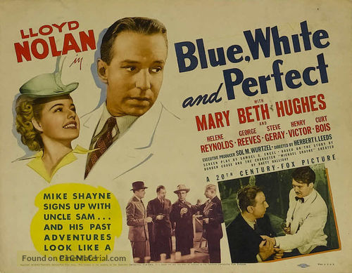 Blue, White and Perfect - Movie Poster