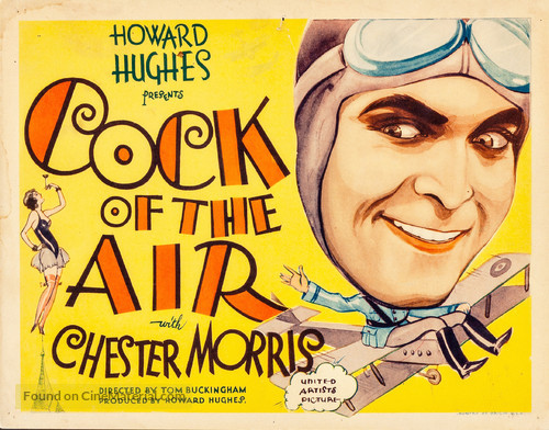 Cock of the Air Chester Morris Lobby Card Movie Poster Howard Hughes