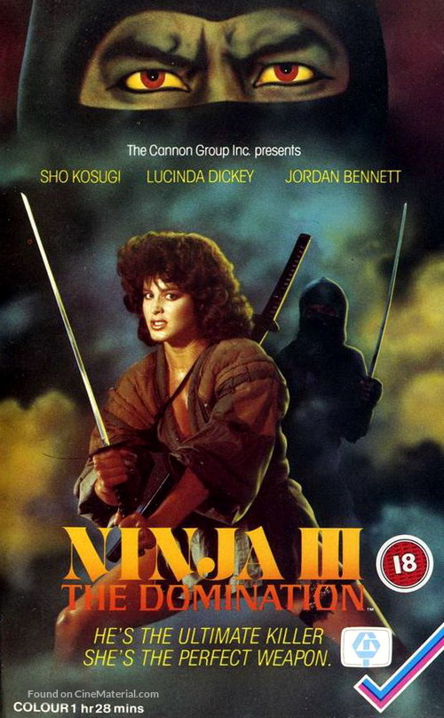 Ninja III: The Domination - British VHS cover