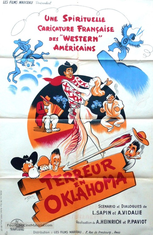 Terreur en Oklahoma - French Movie Poster