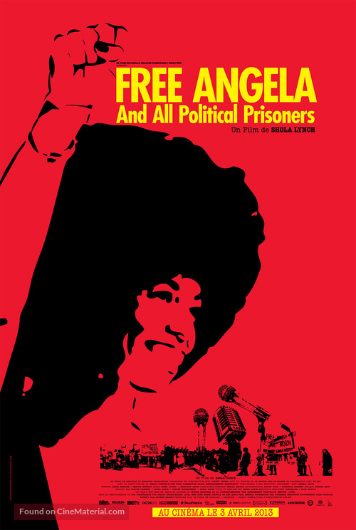 Free Angela & All Political Prisoners - French Movie Poster