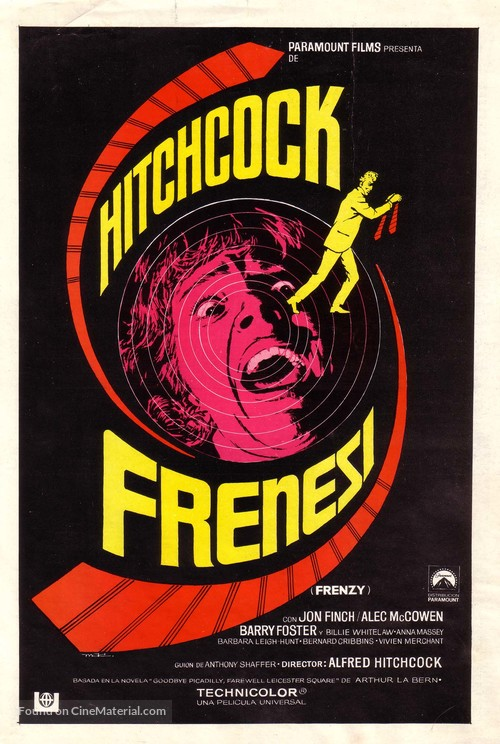Frenzy - Spanish Movie Poster