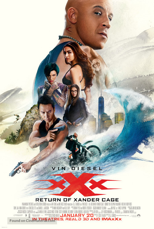 xXx: Return of Xander Cage - Movie Poster