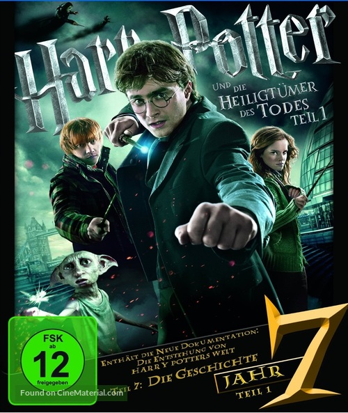Harry Potter and the Deathly Hallows: Part I - German Blu-Ray cover