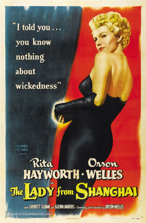 The Lady from Shanghai - Movie Poster