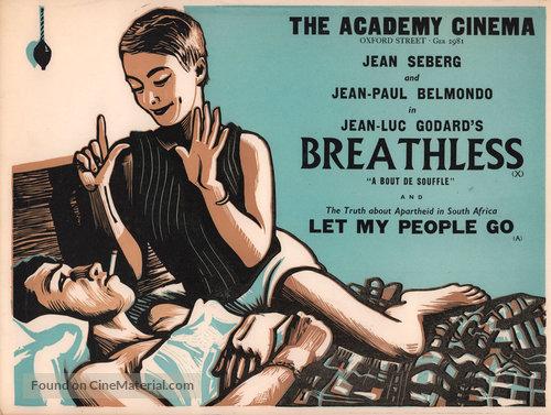 À bout de souffle - British Movie Poster
