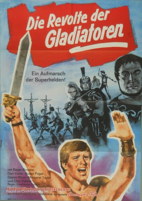 Dieci gladiatori, I - German Movie Poster