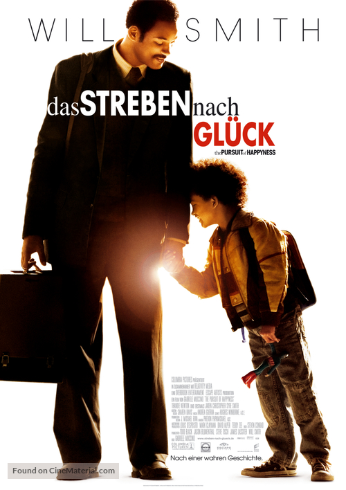 The Pursuit of Happyness - German Movie Poster