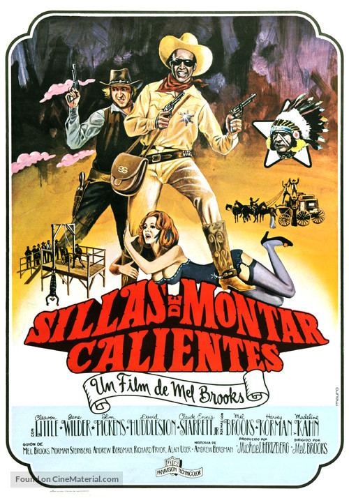 Blazing Saddles - Spanish Movie Poster