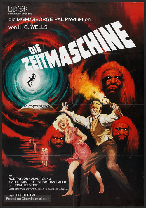 The Time Machine - German Movie Poster