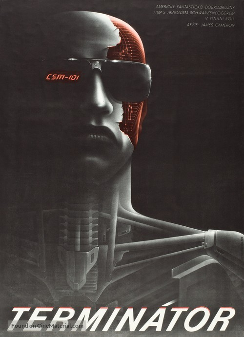 The Terminator - Czech Movie Poster