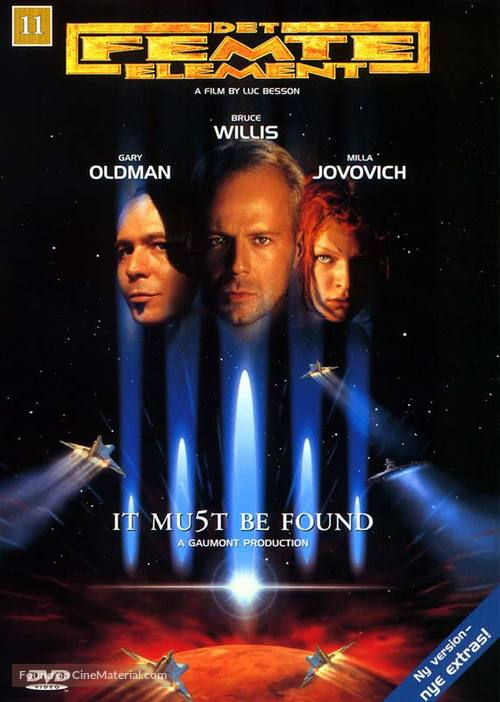 The Fifth Element - Danish DVD cover