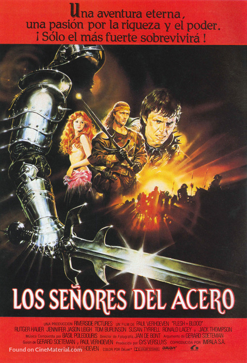 Flesh And Blood - Spanish Movie Poster