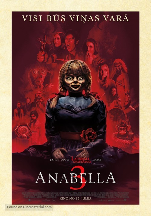 Annabelle Comes Home - Latvian Movie Poster