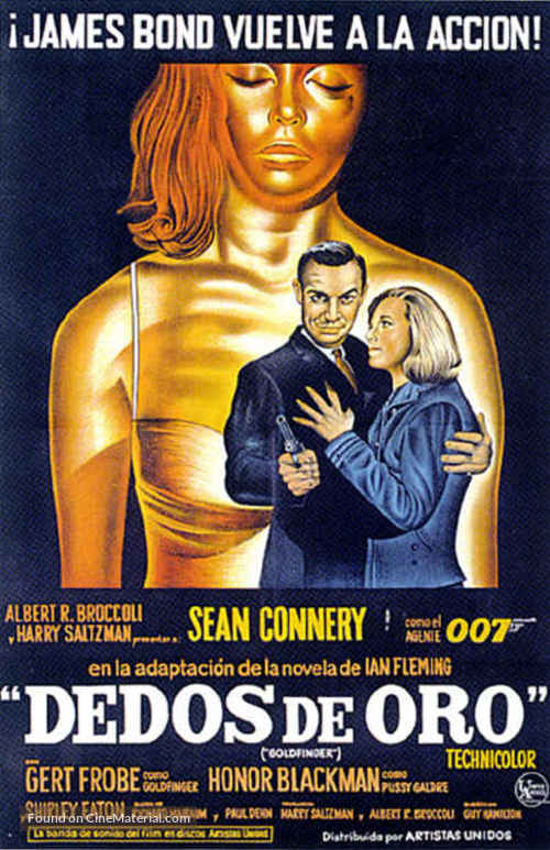 Goldfinger - Argentinian Movie Poster