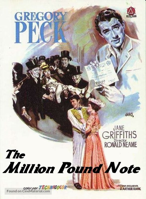 The Million Pound Note - DVD cover