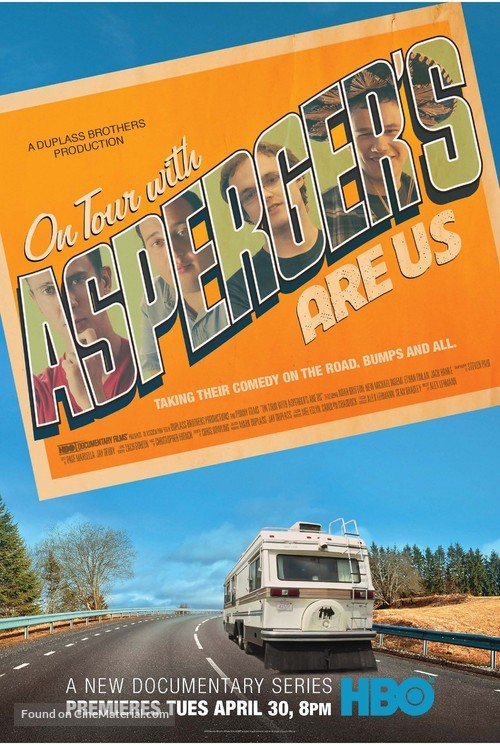 """""""On Tour with Asperger's Are Us"""" - Movie Poster"""