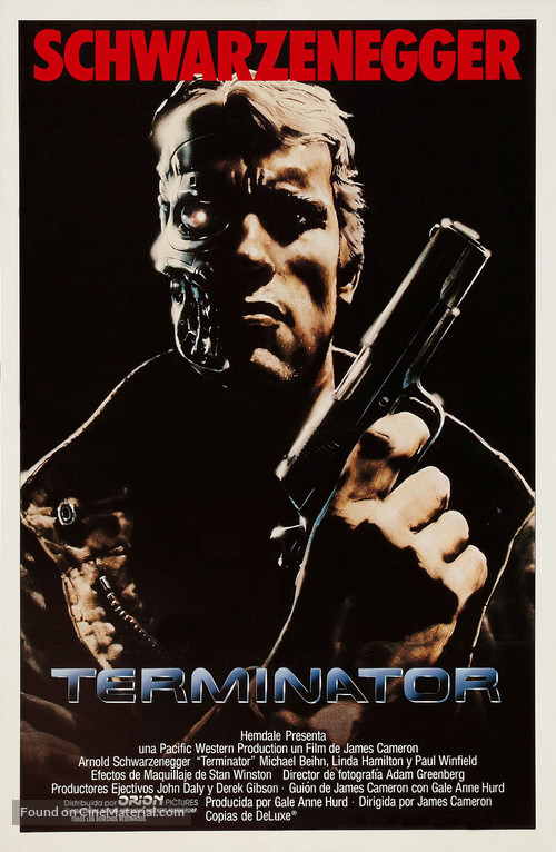 The Terminator - Argentinian Movie Poster