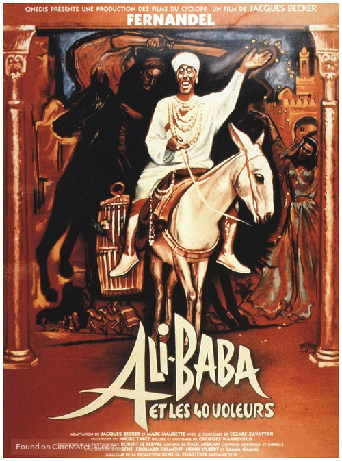 Ali Baba et les quarante voleurs - French Movie Poster