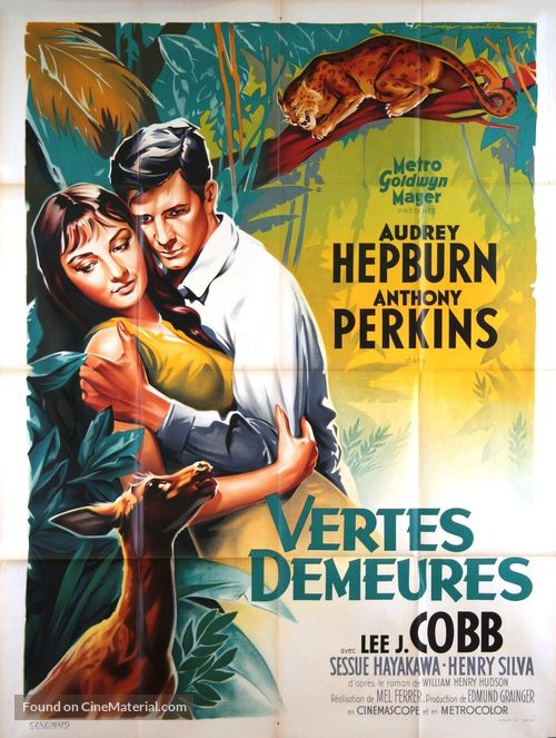 Green Mansions - French Movie Poster